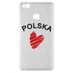Etui na Huawei P9 Lite Serce Polska