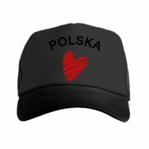 Czapka trucker Serce Polska