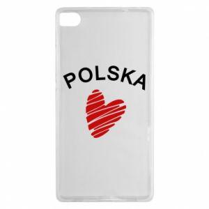Etui na Huawei P8 Serce Polska