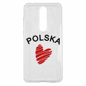 Etui na Nokia 5.1 Plus Serce Polska