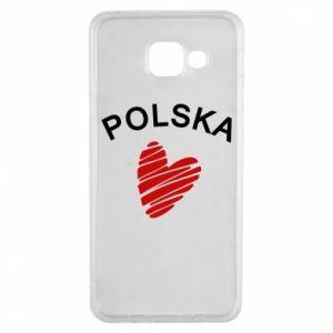 Etui na Samsung A3 2016 Serce Polska