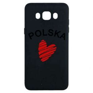 Etui na Samsung J7 2016 Serce Polska