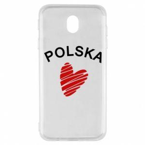 Etui na Samsung J7 2017 Serce Polska