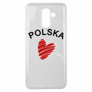 Etui na Samsung J8 2018 Serce Polska