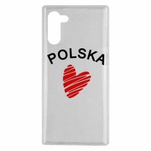 Etui na Samsung Note 10 Serce Polska