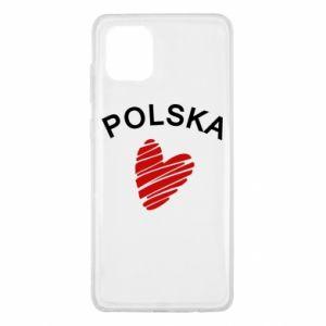 Etui na Samsung Note 10 Lite Serce Polska