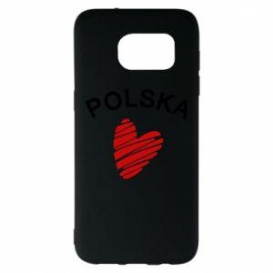 Etui na Samsung S7 EDGE Serce Polska