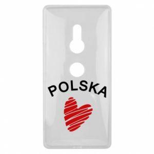 Etui na Sony Xperia XZ2 Serce Polska