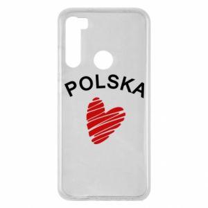 Etui na Xiaomi Redmi Note 8 Serce Polska