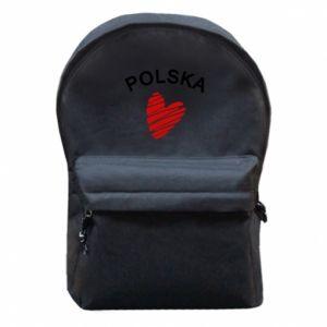 Plecak z przednią kieszenią Serce Polska