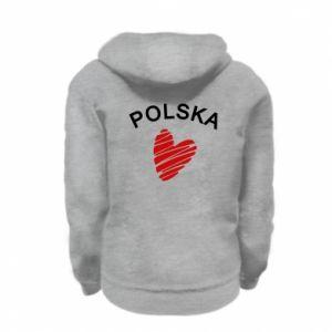 Bluza na zamek dziecięca Serce Polska