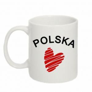 Kubek 330ml Serce Polska