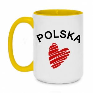 Kubek dwukolorowy 450ml Serce Polska