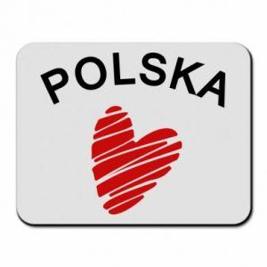 Podkładka pod mysz Serce Polska