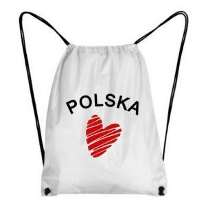 Plecak-worek Serce Polska