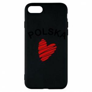 Etui na iPhone 7 Serce Polska