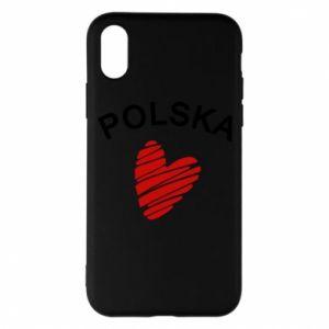 Etui na iPhone X/Xs Serce Polska
