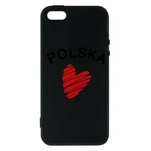 Etui na iPhone 5/5S/SE Serce Polska