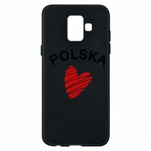 Etui na Samsung A6 2018 Serce Polska