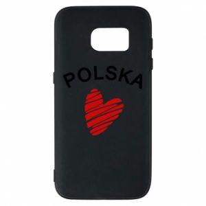 Etui na Samsung S7 Serce Polska