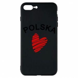 Etui na iPhone 8 Plus Serce Polska
