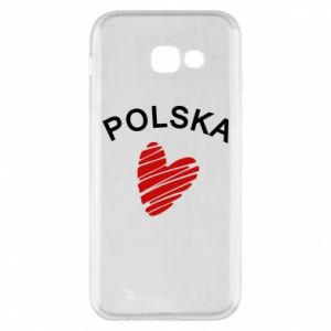 Etui na Samsung A5 2017 Serce Polska