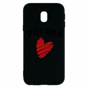 Etui na Samsung J3 2017 Serce Polska