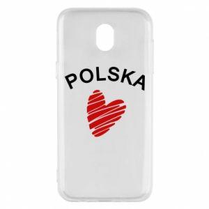Etui na Samsung J5 2017 Serce Polska
