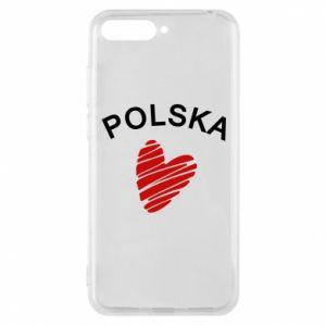 Etui na Huawei Y6 2018 Serce Polska