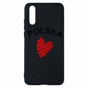 Etui na Huawei P20 Serce Polska