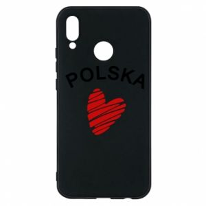 Etui na Huawei P20 Lite Serce Polska