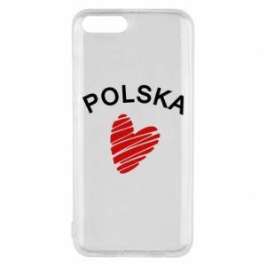 Etui na Xiaomi Mi6 Serce Polska