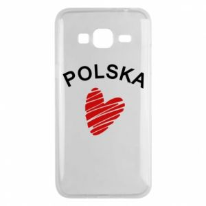Etui na Samsung J3 2016 Serce Polska