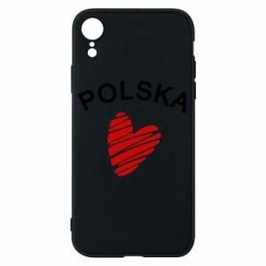 Etui na iPhone XR Serce Polska