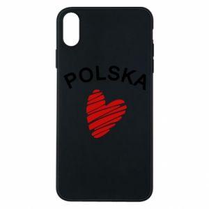 Etui na iPhone Xs Max Serce Polska