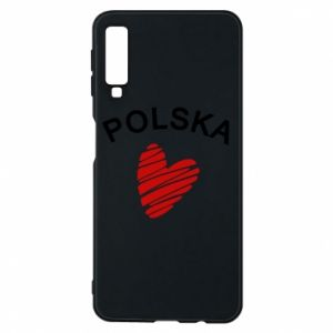 Etui na Samsung A7 2018 Serce Polska