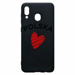Etui na Samsung A30 Serce Polska