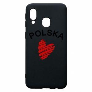 Etui na Samsung A40 Serce Polska