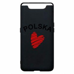 Etui na Samsung A80 Serce Polska