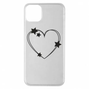 iPhone 11 Pro Max Case Heart with stars