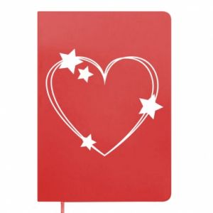 Notepad Heart with stars