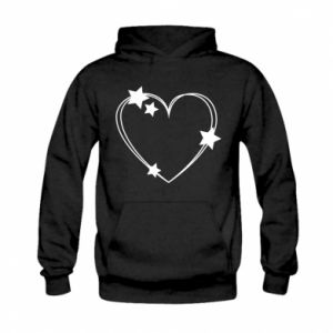 Kid's hoodie Heart with stars