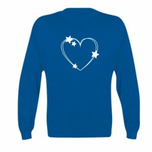 Kid's sweatshirt Heart with stars