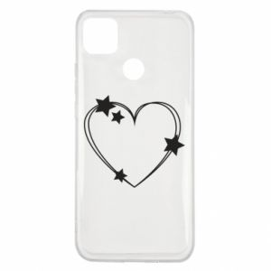 Xiaomi Redmi 9c Case Heart with stars