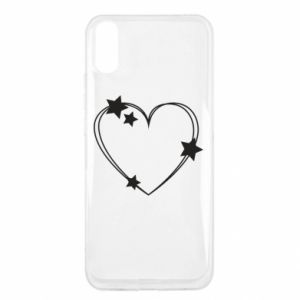 Xiaomi Redmi 9a Case Heart with stars