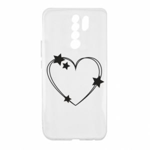 Xiaomi Redmi 9 Case Heart with stars