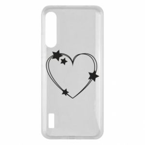 Xiaomi Mi A3 Case Heart with stars