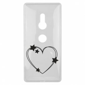 Sony Xperia XZ2 Case Heart with stars