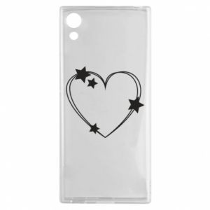 Sony Xperia XA1 Case Heart with stars