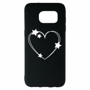 Samsung S7 EDGE Case Heart with stars
